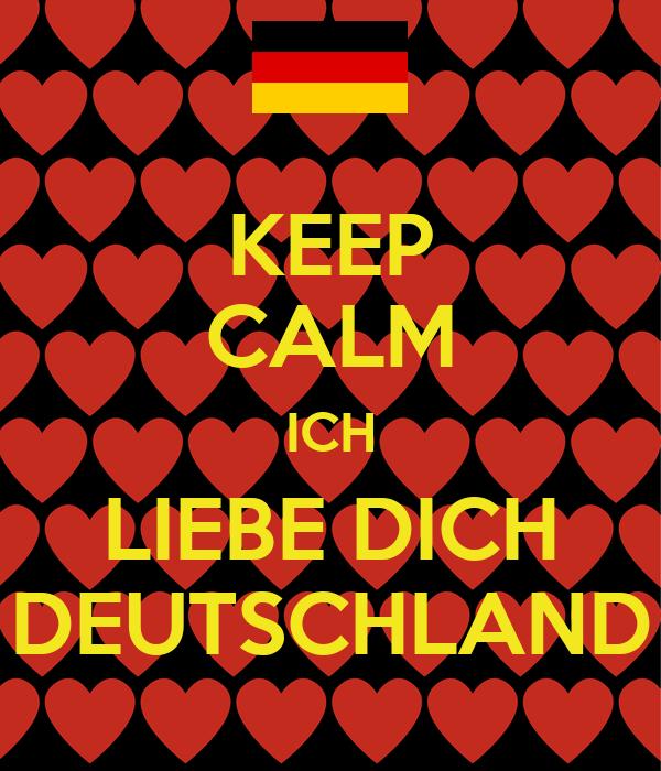 keep calm ich liebe dich deutschland poster ruya matti. Black Bedroom Furniture Sets. Home Design Ideas