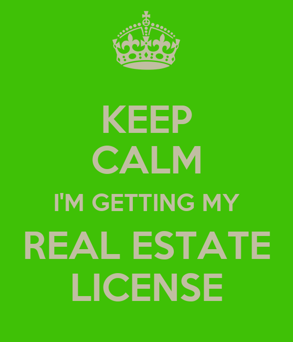 keep calm i'm getting my real estate license poster | jaer | keep