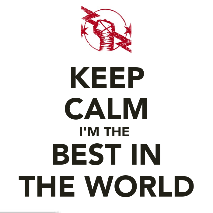 I Am Best In The World Logo KEEP CALM I'...