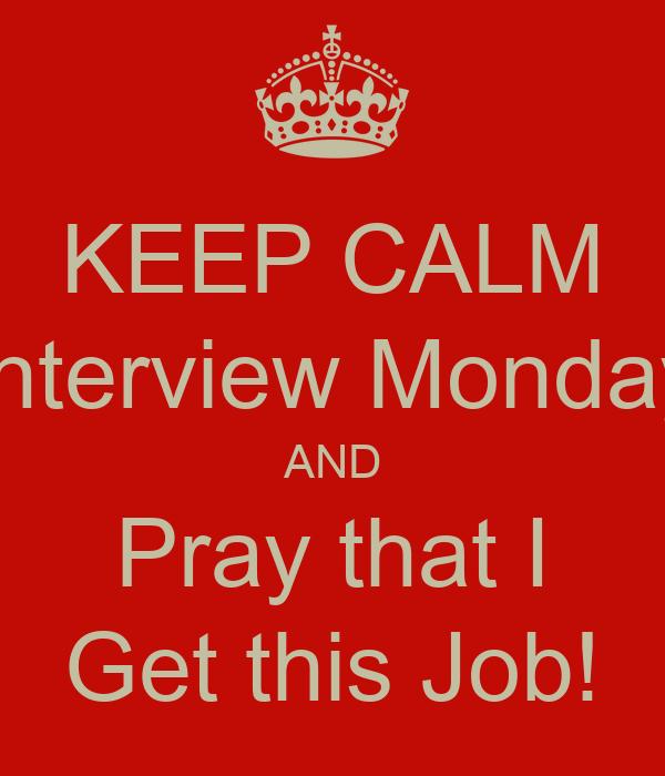 Prayer before job interview