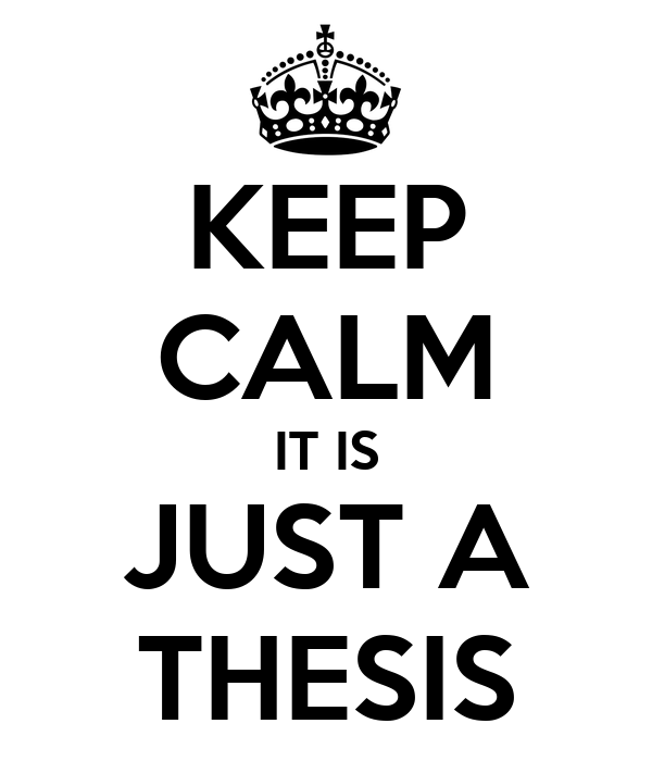 Thesis for it