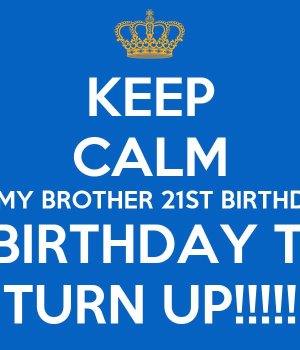 Happy 21st Birthday To My Brother | Birthday Cake