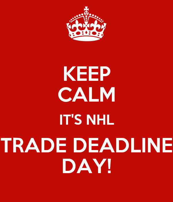 Nhl trade deadline date