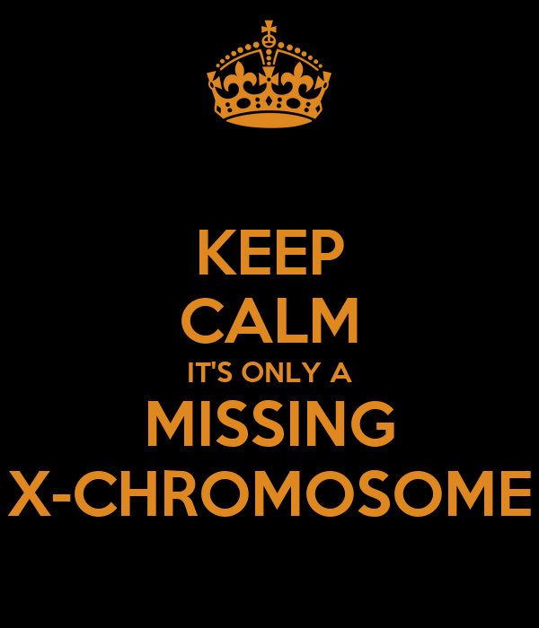 KEEP CALM ITS ONLY A MISSING X CHROMOSOME Poster