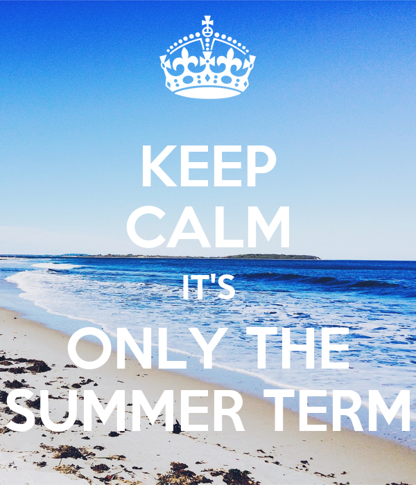 KEEP CALM IT'S ONLY THE SUMMER TERM Poster | Mikaela Rofe | Keep  Calm-o-Matic
