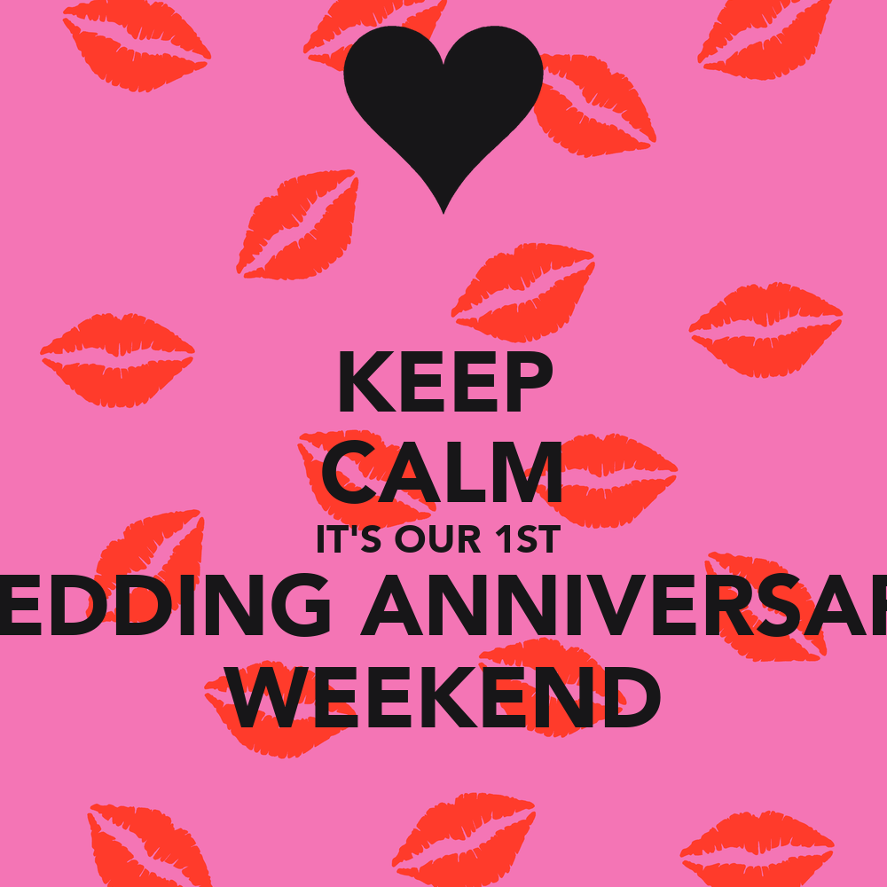 Keep calm it s our st wedding anniversary weekend