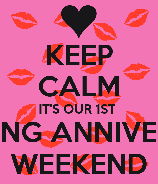 Keep calm it s our st wedding anniversary weekend poster