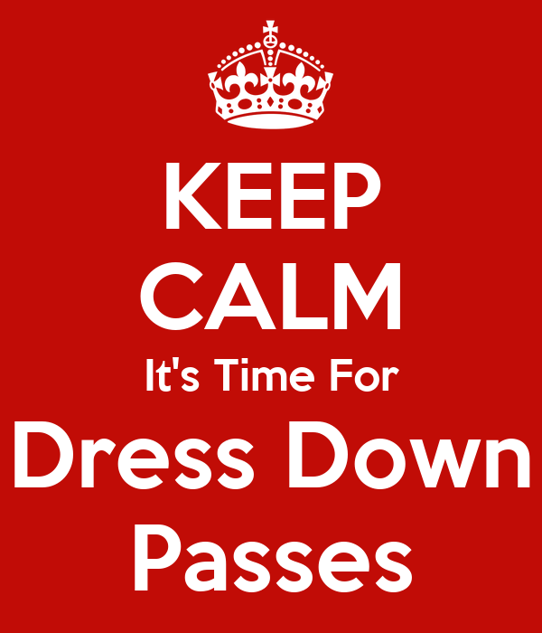 Dress down pass images
