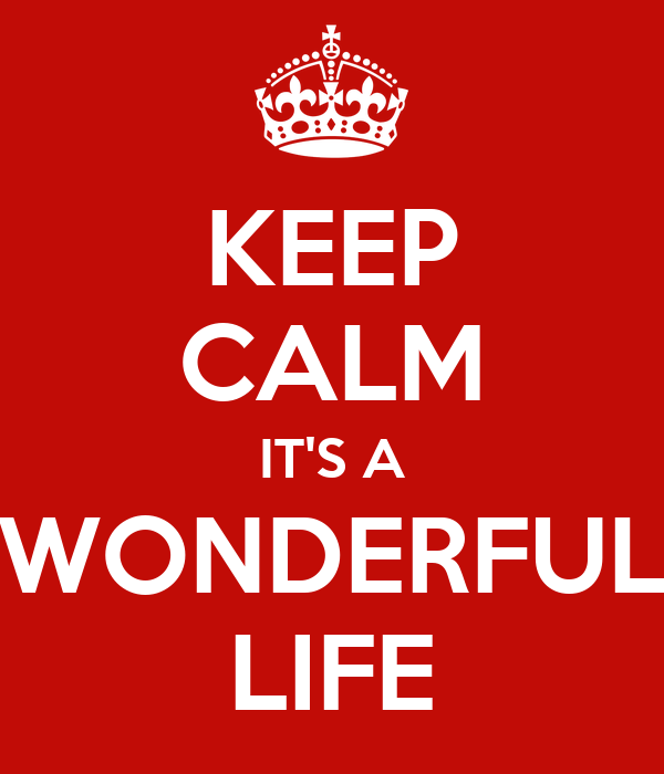 Keep Calm It 39 S A Wonderful Life Keep Calm And Carry On Image Generator
