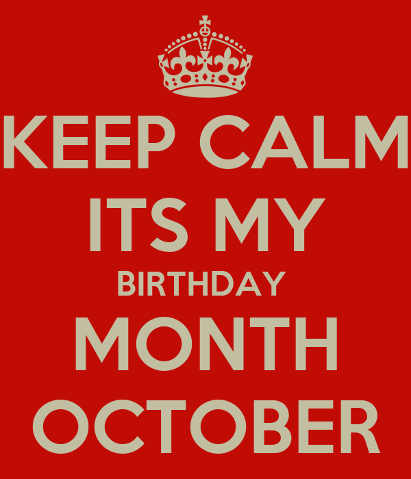 October Birthday Month