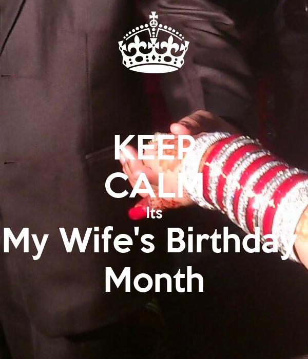 keep calm its my wife s birthday month poster muhammadhussain