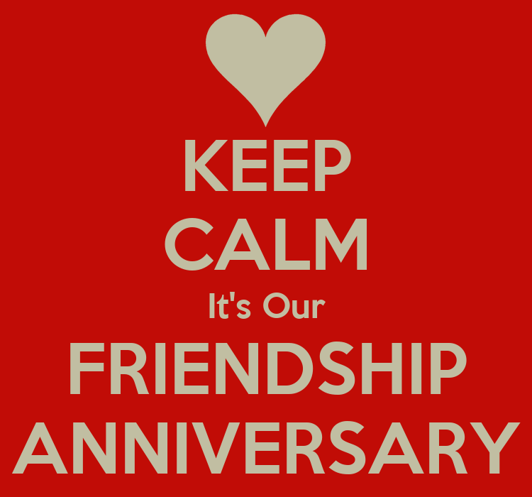 Keep calm it s our friendship anniversary poster afghan rockerz
