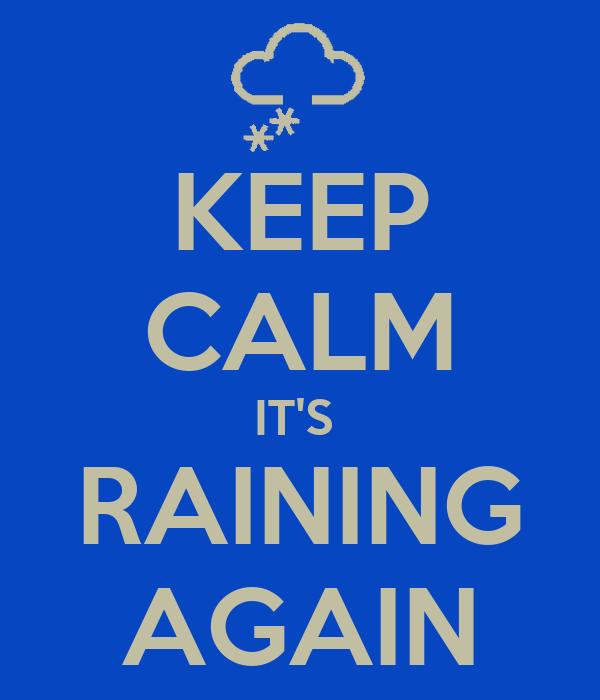 keep calm it 39 s raining again poster blob keep calm o matic. Black Bedroom Furniture Sets. Home Design Ideas