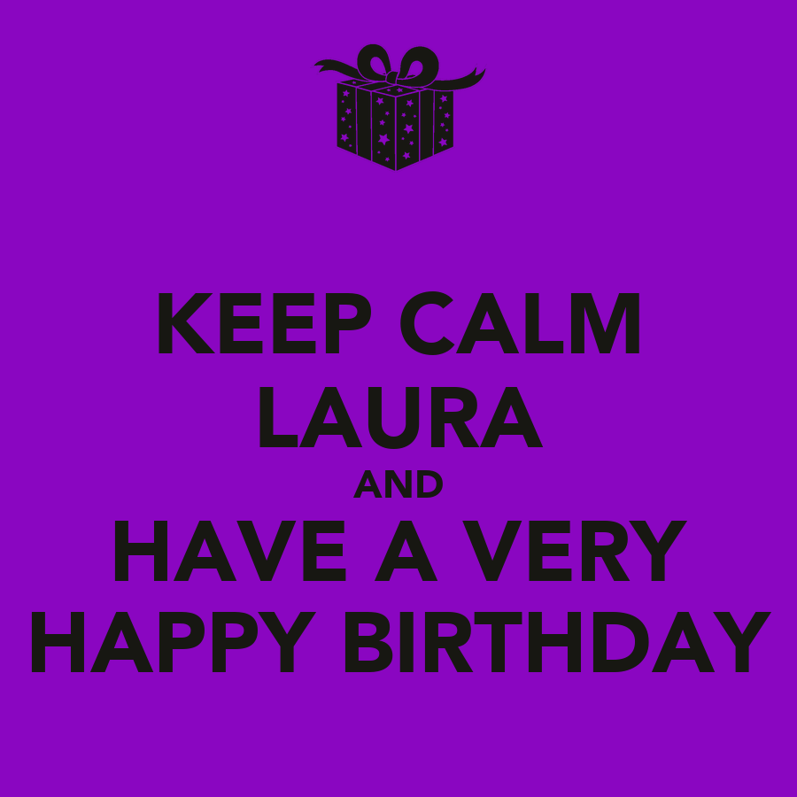 KEEP CALM LAURA AND HAVE A VERY HAPPY BIRTHDAY Poster