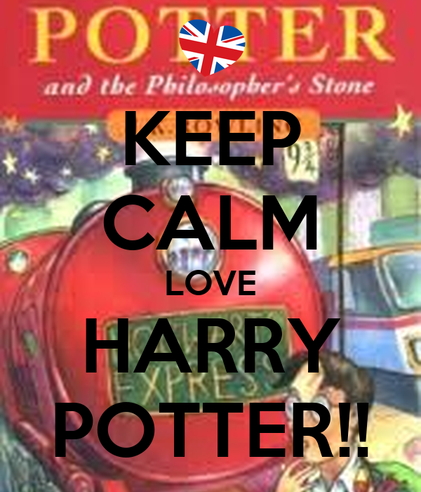 keep calm love harry potter poster eporter keep calm