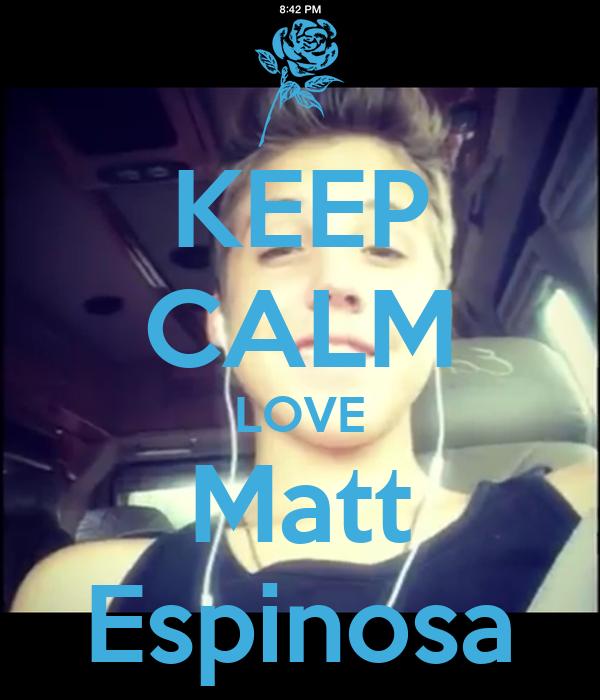 KEEP CALM LOVE Matt Espinosa Poster   Jessica   Keep Calm ...