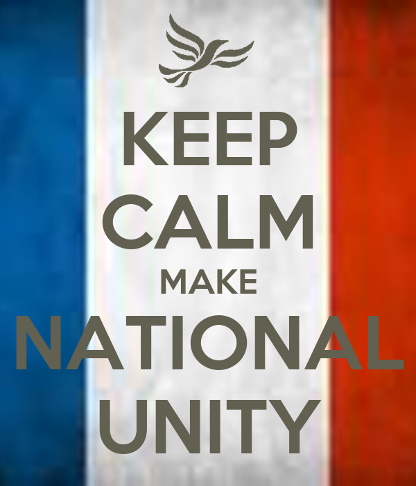 national unity and solidarity Synonymy note: unity implies the oneness, as in spirit, aims, interests, feelings, etc, of that which is made up of diverse elements or individuals [national unity] union implies the state of being united into a single organization for a common purpose [a labor union] solidarity implies such.