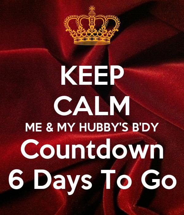 Countdown 6 DAYS TO GO  YouTube