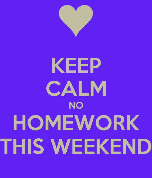 no homework on weekends pnoy