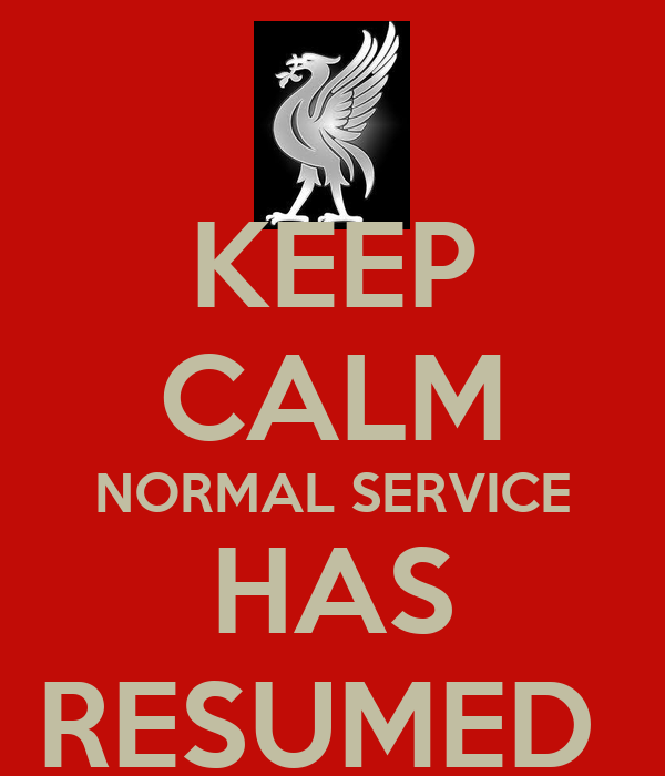 keep calm normal service has resumed poster vinny keep calm o matic