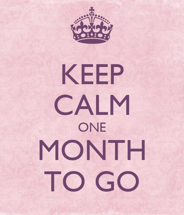 KEEP CALM ONE MONTH TO GO - KEEP CALM AND CARRY ON Image Generator