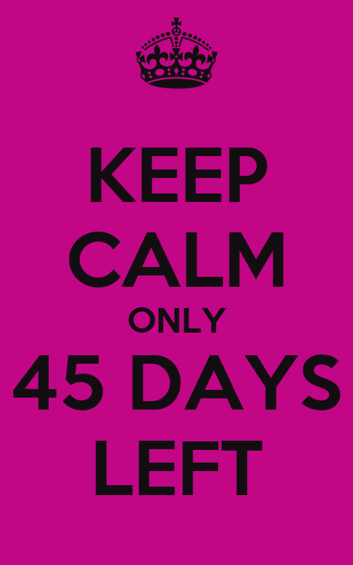 KEEP CALM IT'S ONLY 45 DAYS TILL CHRISTMAS Poster | Nicole | Keep ...