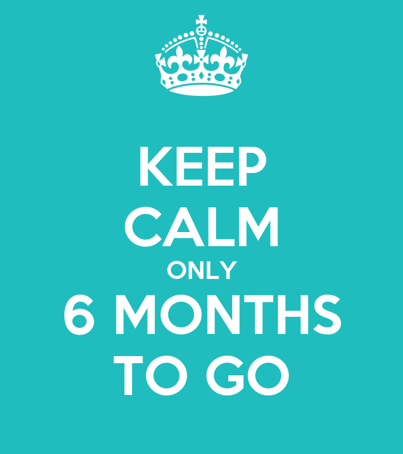 Keep calm only 6 months to go poster kaisa keep calm o matic