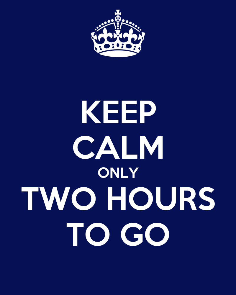 Go To Www Bing Com1 Microsoft Way Redmond: KEEP CALM ONLY TWO HOURS TO GO Poster