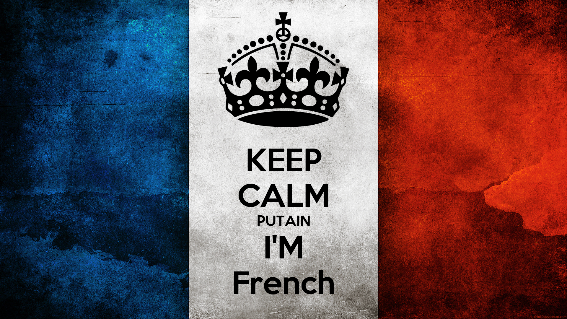 KEEP CALM PUTAIN I'M French Poster