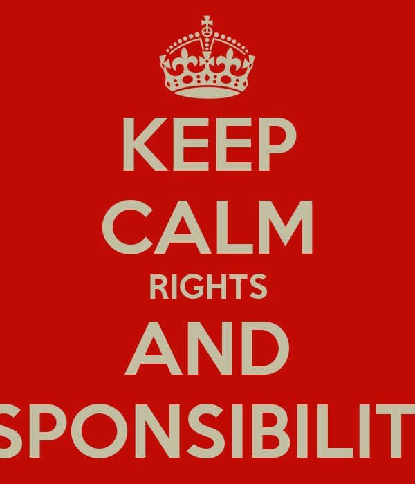 Keep Calm Rights And Responsibilities Poster Duy Keep
