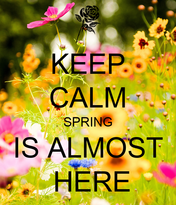 KEEP CALM SPRING IS ALMOST HERE Poster | quesdillas ...