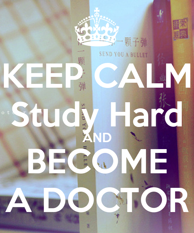 how to study to become a doctor