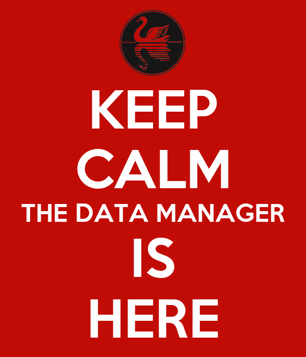 KEEP CALM THE DATA MANAGER IS HERE Poster   DM   Keep Calm-o-Matic