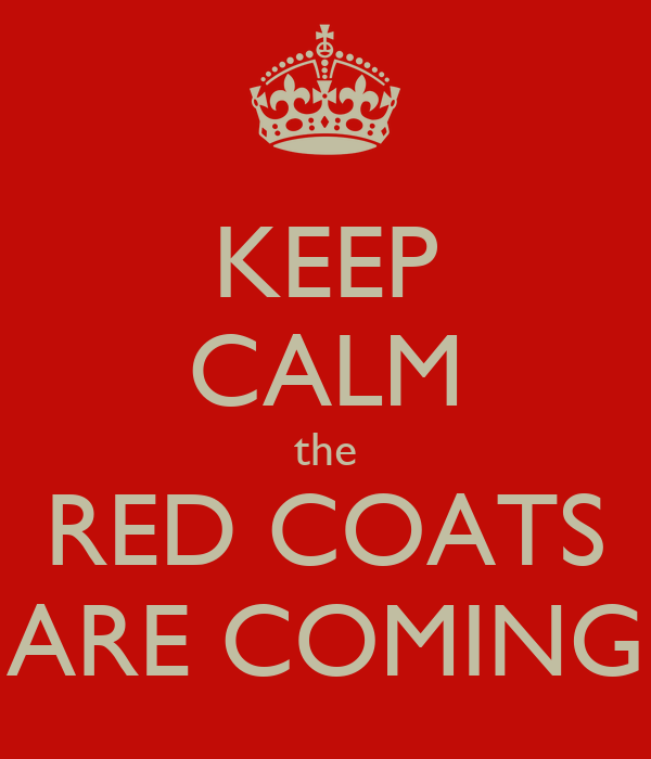 Red Coats Are Coming | Fashion Women's Coat 2017