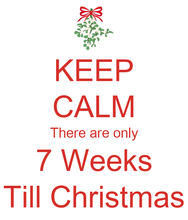keep calm only one week till christmas