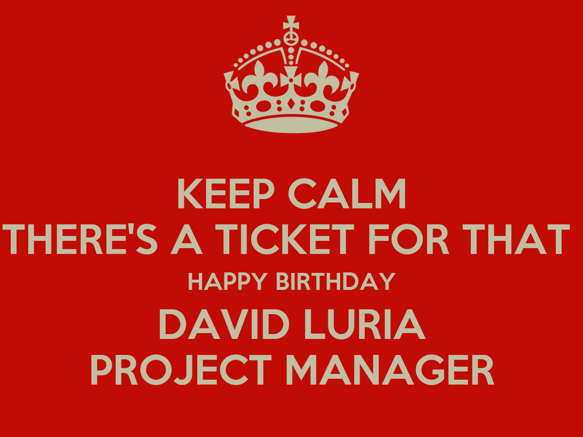 Project Manager Birthday Luria Project Manager