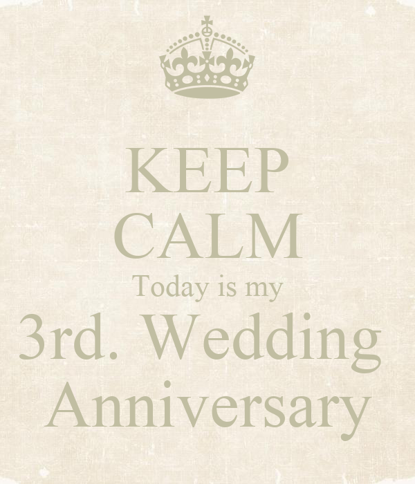 Keep calm today is my rd wedding anniversary poster