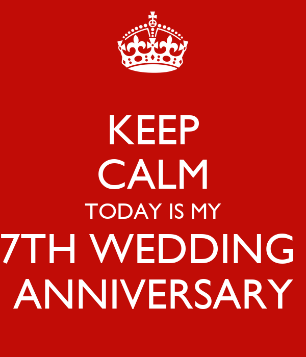 Keep calm today is my th wedding anniversary poster