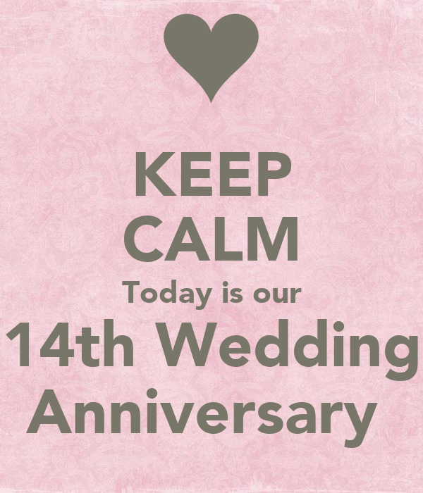 Keep calm today is our th wedding anniversary poster