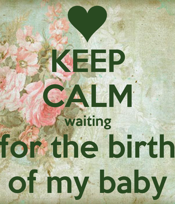 Keep Calm Waiting For The Birth Of My Baby Poster Merynda Keep