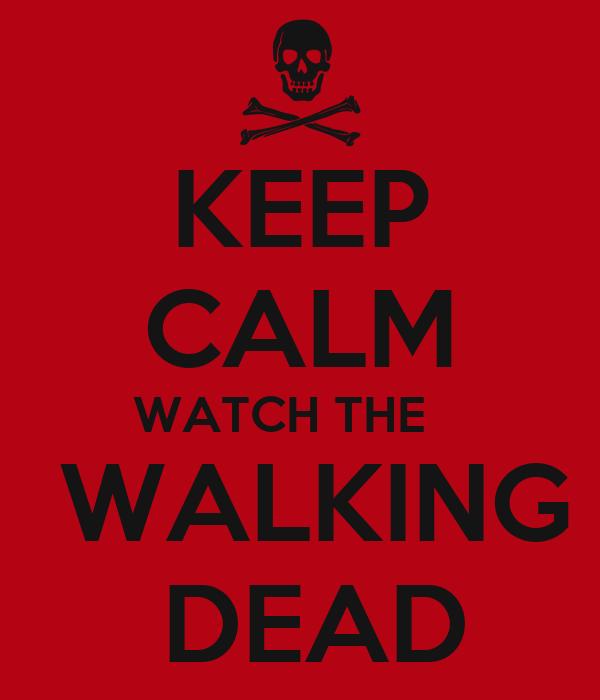 keep calm watch the walking dead keep calm and carry on image Watch The Walking Dead Season 1 – 4 Online 600x700