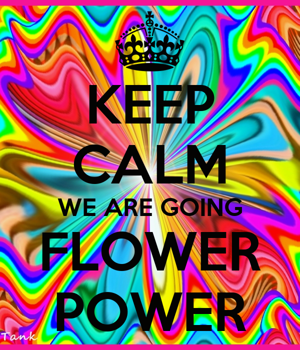 Keep Calm We Are Going Flower Power Poster Ju Keep