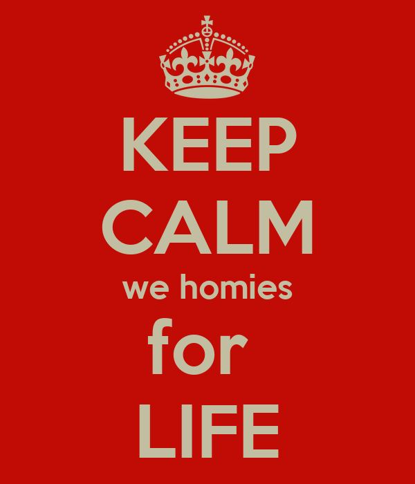 keep calm we homies for life poster jessica keep calm