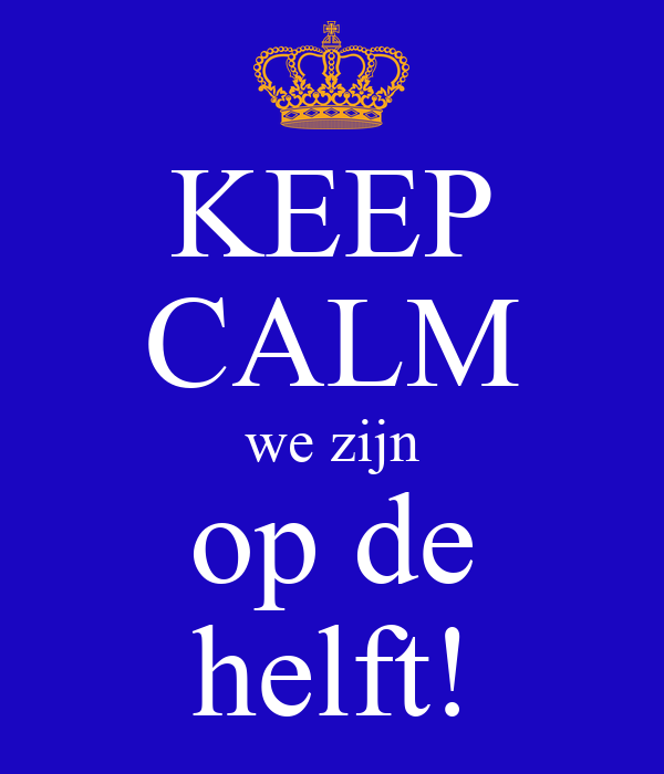 KEEP CALM we zijn op de helft! Poster | redhawk | Keep Calm