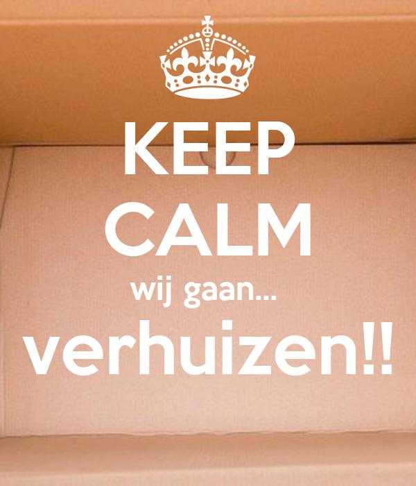 Ongebruikt KEEP CALM wij gaan... verhuizen!! Poster | Prutten | Keep Calm-o-Matic TC-91