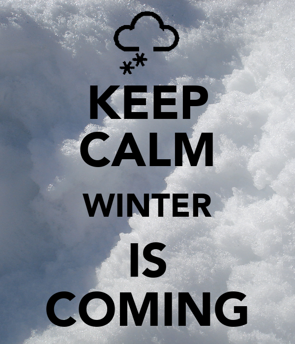 KEEP CALM WINTER IS COMING Poster  Zuzia  Keep Calm-o-Matic