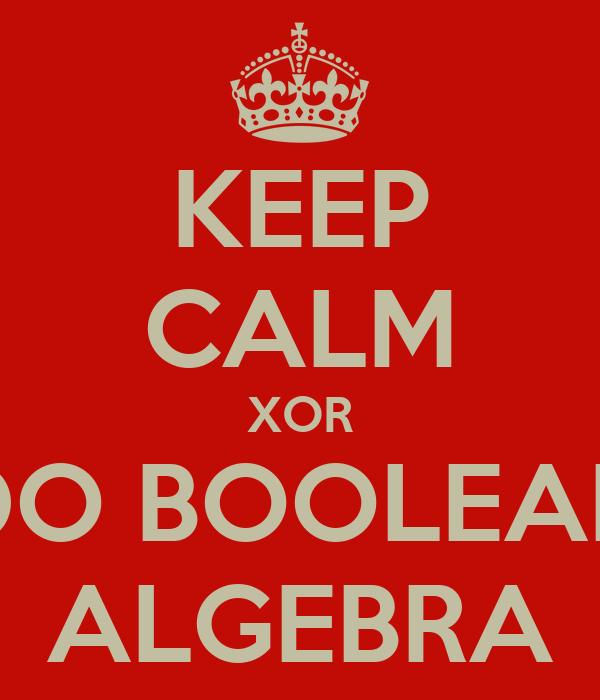 how to solve boolean algebra