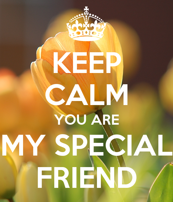KEEP CALM YOU ARE MY SPECIAL FRIEND - KEEP CALM AND CARRY ...