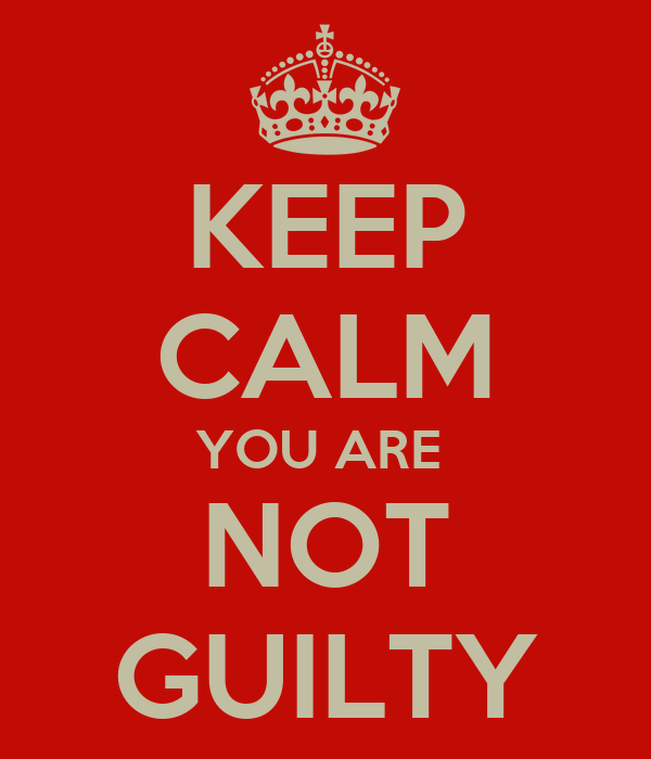 guilty or not guilty And thus we came by a circuitous route to mohair, the judge occupied by his own guilty thoughts, and i by others not less disturbing blameworthy.