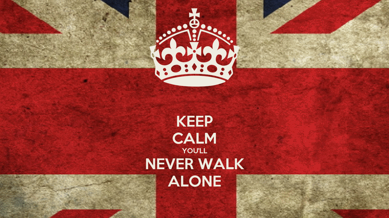 keep calm you 39 ll never walk alone poster heygabo keep calm o matic. Black Bedroom Furniture Sets. Home Design Ideas